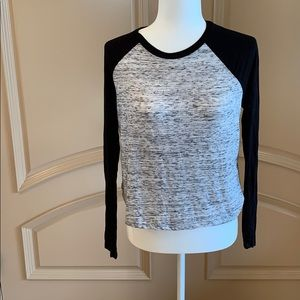 Forever 21 Baseball Style Grey and Black Soft New